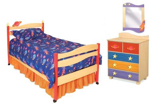 Hot Sale Room Magic Star Rocket 5 Piece Bedroom Set, Natural