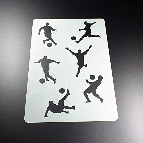 Schablone Fußball Fussballer 6 Spieler - BA16