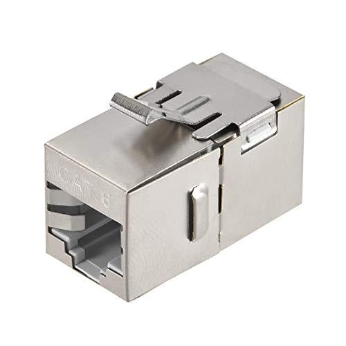 uxcell RJ45 Ethernet Extender Coupler Shielded Module Insert Jack Cat6...