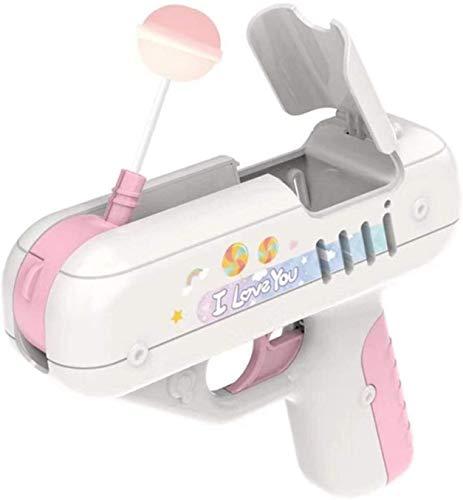 ZMMA Lecca-Lecca Pistola per Bambini Pistola per Caramelle Giocattolo per Lecca-Lecca Giocattolo Sorpresa Creativa Ragazzo e Ragazza Regalo Bambini (Rosa)