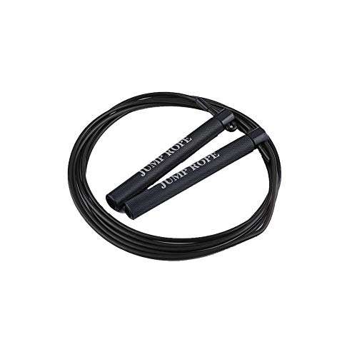LXYCLOVER Adult Springseile für Fitness, Speed Jump Rope - Winkelfreie Fast Speed Ball Bearings Springseil Übung und Fitness Training Jumping,Schwarz