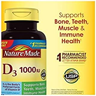 Nature Made Vitamin D3 1000IU, 650 Softgels