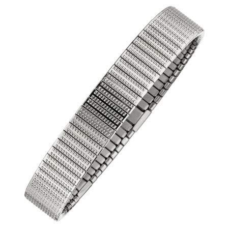 MAGNETIX-Wellness 4622 Flexibles Magnetarmband fein Gemustert (19.0)