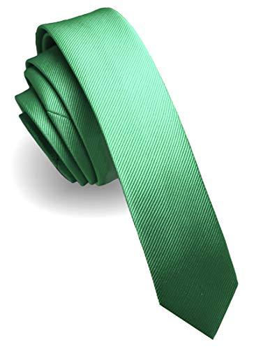 JEMYGINS Krawatte Mintgrün grün Pfauenblau schmale Krawatten für Herren seide Hochzeit Schlips (18)