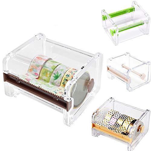4pcs HomDSim Washi Tape Dispenser Cutter,Roll Tape Holder Organizer,Masking Tape Desktop Tape DIY Sticker Roll Tape Cutter Holder Storage