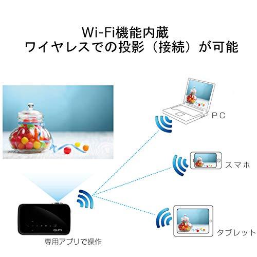 【Amazon.co.jp限定】VivitekLEDモバイルプロジェクターQUMIQ8-BK(高輝度1000lm/フルHD/621g/Wi-Fi内蔵/ワイヤレス接続可)