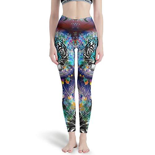 WJunglezhuang Vrouwen Strakke Hoge Taille Yoga Pant Leeuw Tijger Luipaard Zachte Leggings Panty voor Meisje
