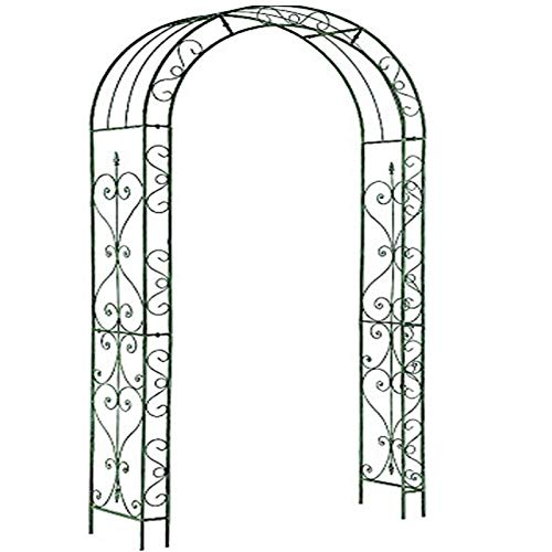 Gr8 Garden Patio Outdoor Large Black Metal Decorative Loire Arch Wedding Rose Archway Ornament Arbour Pergola For Climbing Plants Trellis Support
