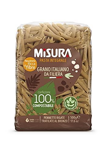 Misura Pennette Rigate Integrali Fibrextra | Grano 100% Italiano | Confezione da 500 grammi