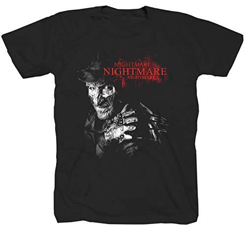 Camiseta de Freddy Krueger, película de terror Jason Hallooween Slasher Nightmare, color negro
