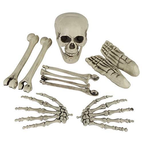 9 esqueleto humano, esqueleto humano, diseño de calavera, brazo, simulación, realista, decoración de casa de Halloween