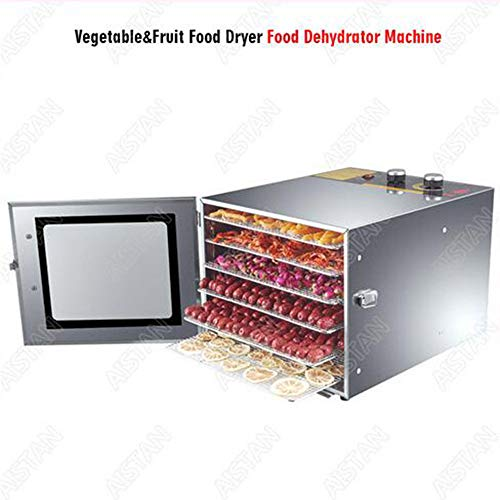 Best Deals! 6 10 Trays Food Dehydrator Snacks Dehydration Dryer Fruit Vegetable Herb Meat Drying Mac...
