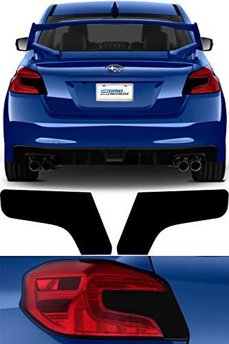 Tail Light Tint Kit compatible with 2015-2020 Subaru WRX / STI | Gloss Black Smoke Vinyl Tinted Taillight Overlay Kit