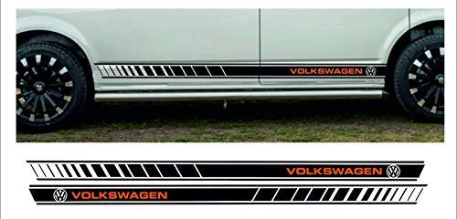 SUPERSTICKI Transporter T4 T5 T6 Bus Van Bulli Seitenstreifen Racing Stripes Rallyestreifen Aufkleber Autoaufkleber Tuningaufkleber Hochleistungsfolie für alle glatten Flächen UV und Waschan