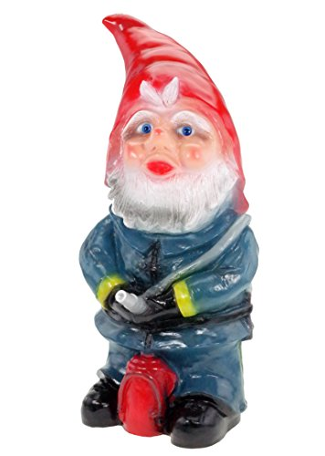 Gartenzwerg Feuerwehrmann aus bruchfestem PVC Zwerg Made in Germany Figur