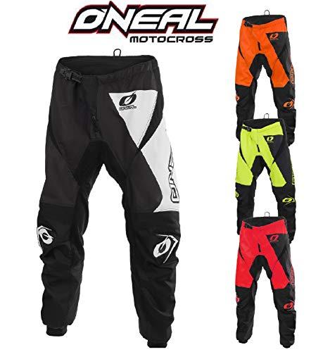 Motorrad Hosen O'Neal Matrix Motocross Hose Off-Road Rennen Enduro Quad Cross Erwachsene MX Pants (Rot,XL/36)