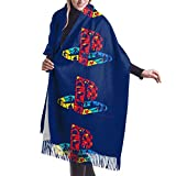 Funky Playstation Logo 女性ソフト大カシミヤブレンド冬スカーフ暖かいパシュミナエレガントショールラップ