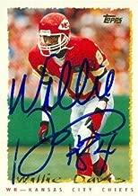 Autograph Warehouse 73645 Willie Davis Autographed Football Card Kansas City Chiefs 1995 Topps No 71