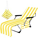 Beach Lounge Chair Cover Towels (Yellow)
