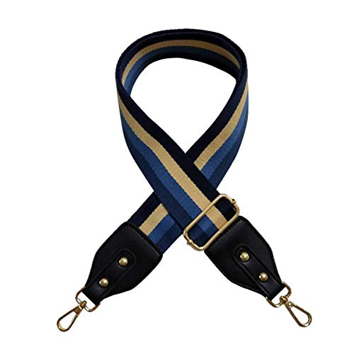 Beacone Breiter Ersatz-Gurt für Handtaschen, verstellbarer Crossbody-Gurt, (Marineblau, Schwarz.), Einheitsgröße
