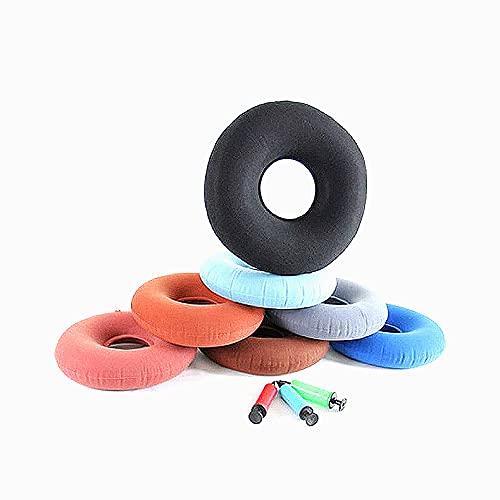 Stafeny Paquete de 4 cojines inflables redondos con bomba, cojín redondo plegable, cojín de aire, cojín portátil, cojín de donut para alivio de presión