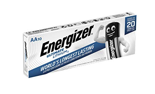 Energizer Battery AA/LR6 Ultimate Lithiu 10-pak, 636900 (10-pak)