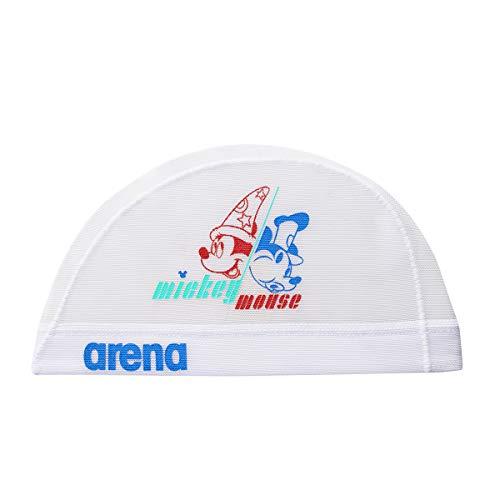 arena(アリーナ) スイムキャップ ディズニー 水泳帽 メッシュキャップ DIS-9310 ホワイト L