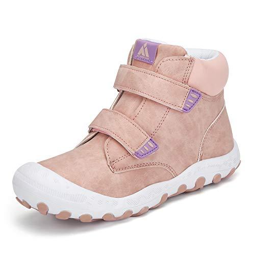 Mishansha Mädchen Trekkingschuhe rutschfeste Outdoor Licht Sportschuhe Freizeit Schuhe für Sport Hiking Walking Pink 29 EU