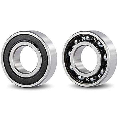 DOJA Industrial |Rodamiento de Bolas 6204 2RS C3 | Pack de 2 Unidades de cojinetes para Eje de 20mm | Exterior de 47 mm | Ancho de 14mm |Útiles para: Fresadora, Impresora 3D, Torno, Bricolaje, Skate.
