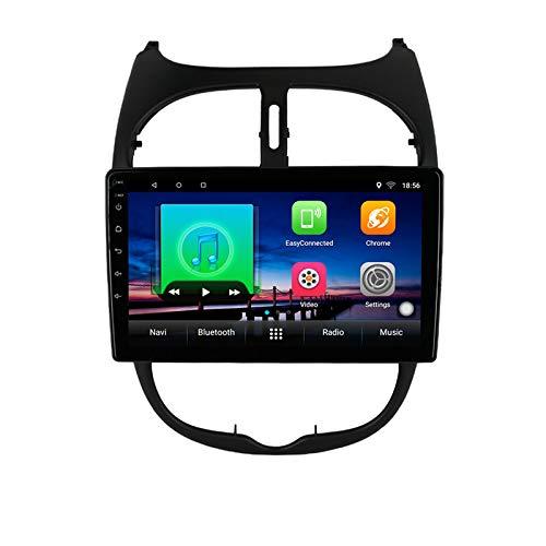 Android 10,0 Reproductor Multimedia de DVD para Coche GPS para Peugeot 206 2001 2002 2003 2006 2008 navegación estéreo de Radio de Coche de Audio