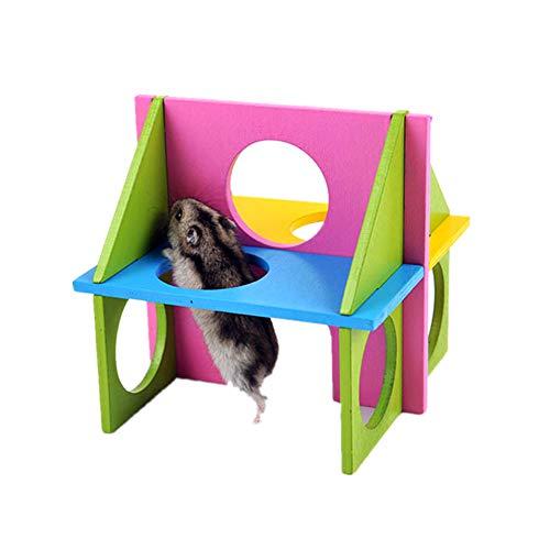 HOSui Juguetes para Hamsters Rueda Hamster Juguetes para Conejos Accesorios para Hamster Cosas para Hamsters para Ratones Cobayas HáMsters Conejos