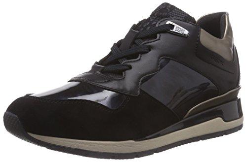 Geox D Shahira - Zapatillas de deporte para mujer, color negro, talla...