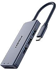 PISEN USB type c ハブ 7in1 USB3.0 タイプC HDMI 変換 アダプタ 60W PD 高速充電 USB コンパクト 4K 多機能 機能拡張 持ち運び便利 MacBook MacBook Pro/Air/ChromeBook対応