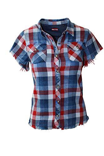 Almgwand W Duxeralm Kariert-Blau-Rot, Damen Hemd, Größe 44 - Farbe Blue