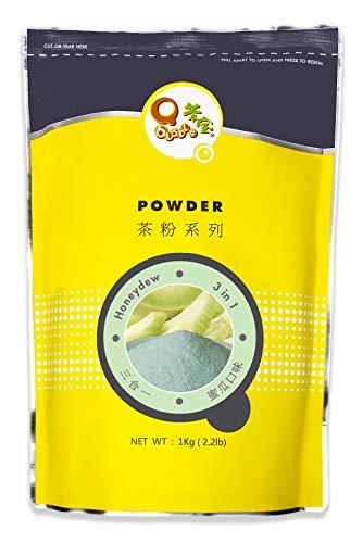 Qbubble Tea Powder Green Honeydew Powder, 2.2 Pound