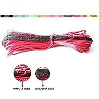 ウィンチ用合成ケーブル 4x4の4WDバギーUTV SUVオフロードのための8ミリメートル* 12メートルの合成ウインチライン/ロープケーブル (Color Name : Red)