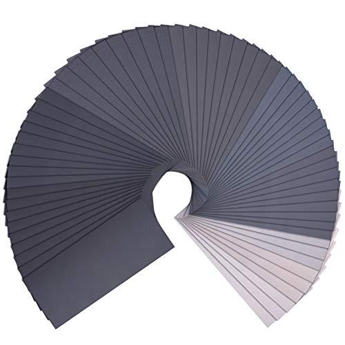 SIQUK 63 Stück Schleifpapier Set, Schleifpapier Nass und Trocken Sandpapier 1000 1200 1500 2000 2500 3000 5000 7000 10000 Körnung 23 x 9 cm Schleifpapier Sortiment für Holzmöbel, Stein, Metall