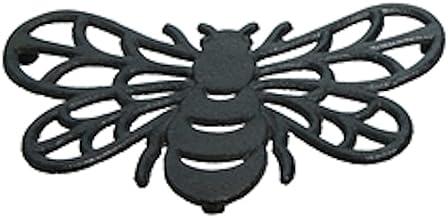 Black Cast Iron Bee Shaped Trivet, 7.68 inch Dia