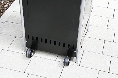 Heizpilz Heizstrahler Terrassenstrahler 'Optical Pro' schwarz matt: CE-zertifizierter Gasheizer mit elegantem Design robuster Stahl-Alu-Rahmen für stabilen Stand des Terrassenheizers Gesamthöhe 225 cm - 4