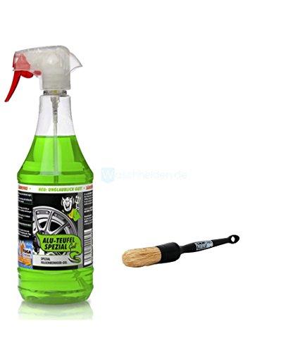 TUGA Alu-TeufelSpezial Felgenreiniger säurefrei grün 1L & ValetPRO Large Sash Brush/Pinsel