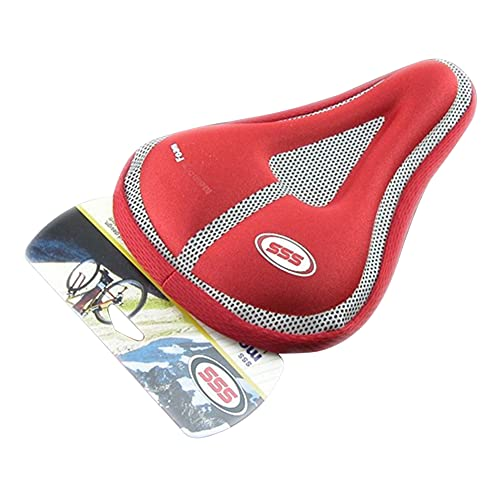 SHIZIZUO Funda de asiento de bicicleta, cojín de asiento de bicicleta, funda de asiento de bicicleta 3D Gel transpirable MTB Road Bicycle Saddle Cushion (rojo)