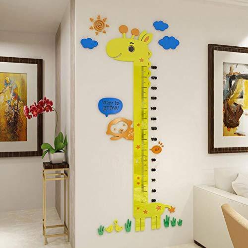 Pepela 3D Acryl Kinder messlatte Wandtattoo Kinderzimmer Wanddeko Abnehmbar Wandsticker 14