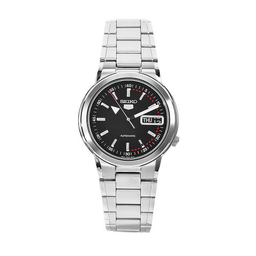 Seiko Men's SNXE99K Stainless Steel Black Dial Watch