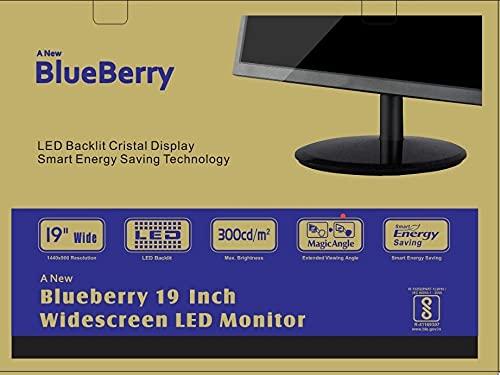 Blueberry 19-inch LED Backlit Cristal Display Smart Energy Saving Technology Computer Monitor (Black)
