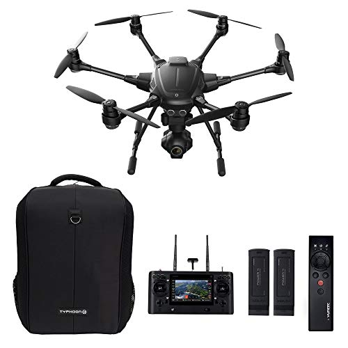 Yuneec Typhoon H Pro Bundle - Ultra High Definition 4K Collision Avoidance Hexacopter Drone with 2 Batteries, ST16 Controller, Wizard and a Backpack (Renewed)