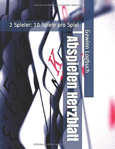Abspielen Herzblatt - 2 Spieler: 10 Spiele pro Spiel - Gewinn Logbuch