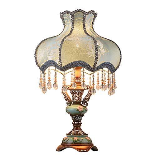 Lampada da Illuminazione in Resina-Wedding Camera da Letto Lampada da Comodino Europeo Wedding Room Illuminazione Creativa (Senza Fonte di Luce) (Color : Blue-33)