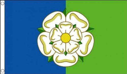 5 ft x 3 ft 150 x 90 cm-Orient équitation Ridings 100% drapeau du Yorkshire bannière Tissu en Polyester Idéal pour bar Club Festival Business School Décoration de Fête