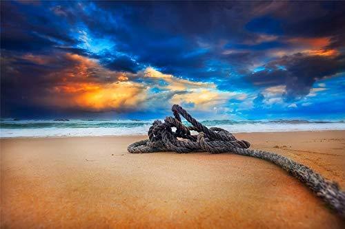 KCHUEAN 1000 Piezas Rompecabezas Decoracion De Muebles Playa Atardecer Cielo Nubes De Madera Montaje Personalizado