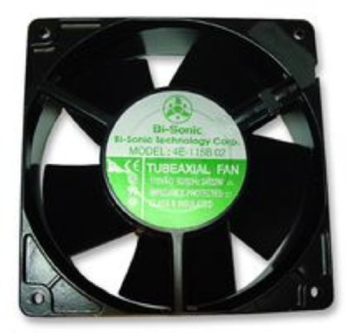 Axial Fan, AC 4E-02 Series, 230 V, AC, 119 mm, 38 mm, 50 dBA, 120 cu.ft/min